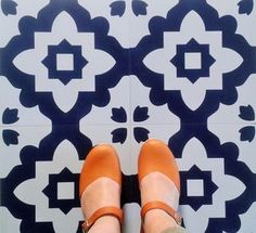 Casablanca Blue Vinyl Floor Tiles - furnishings & fittings