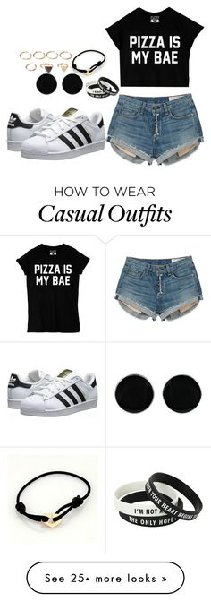 """""""Casual"""" by chap15906248 on Polyvore featuring rag & bone, adidas Originals, AeraVida, Cartier and Forever 21"""