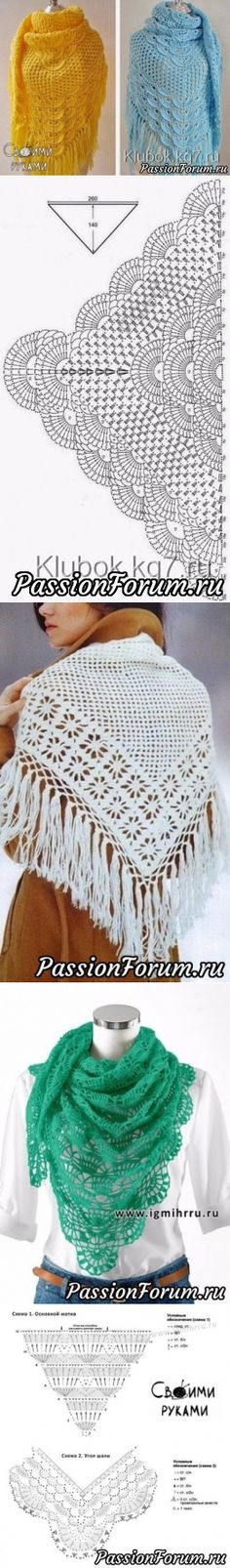 397 best CHALES, CAPAS Y MAS. images on Pinterest in 2018 | Crochet ...