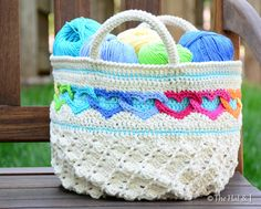 CROCHET PATTERN  Have a Heart Tote  a colorful by TheHatandI, $6.00