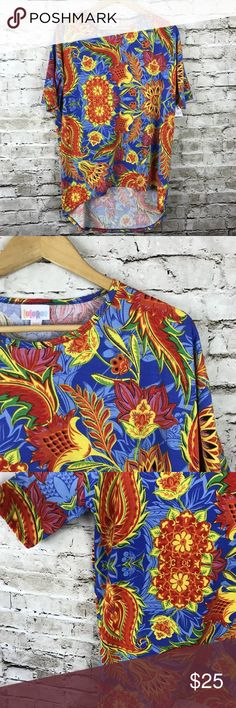 Lularoe Irma Neon Floral Shirt XXS NWT New! Great condition! LuLaRoe Tops Tees - Short Sleeve