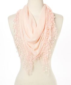 Light Pink Knit Oblong Scarf #zulily #zulilyfinds