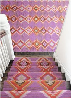 How to Choose a Runner Rug for a Stair Installation. A stair runner automatically elevates the look of almost any hallway! Check out our tips for choosing the best rug for your stairs: Hallway Carpet Runners, Cheap Carpet Runners, Carpet Stairs, Stair Runners, Stairway Carpet, Where To Buy Carpet, Cost Of Carpet, Dash And Albert, Cheap Rugs