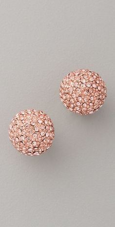 Not sure if I'll get tired of these, but I'm obsessed with rose gold and these crystal studs from Michael Kors might be nice.