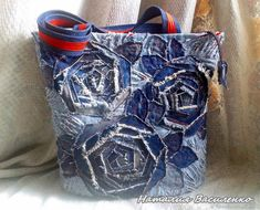 Upcycled Jeans with rose motif...nice!