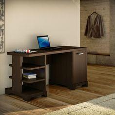 Bush Furniture Lattix Collection Double Pedestal Desk | Overstock.com Shopping - The Best Prices on Bush Industries Computer Desks