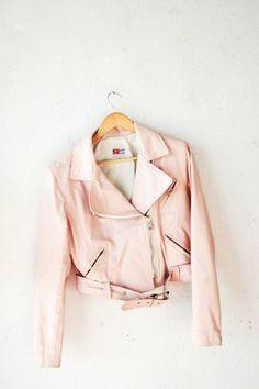 Pastel Powder Pink Motorcycle Jacket,Soft Grunge,Pastel Goth