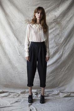 Françoise Blouse - Creme Silk Chiffon www.ovate.ca