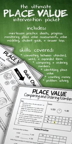 Struggling with place value? There are always a few students in my class who face an uphill climb in mastering this abstract concept. This Place Value Intervention Pack is perfect for assessing and filling those knowledge gaps for struggling learners during your small group reteach. You'll be amazed at how these research-based strategies help your learners better understand the complexities of place value.