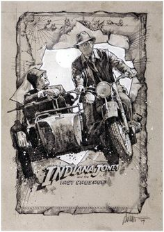 Indiana Jones and the Last Crusade movie poster designed by Drew Struzan