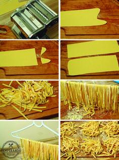 MASSA FRESCA CASEIRA -- receitas e muitas dicas de como fazer massa caseira fresca com passo a passo e fotos | temperando.com #massacaseira #pasta #homemade #receita