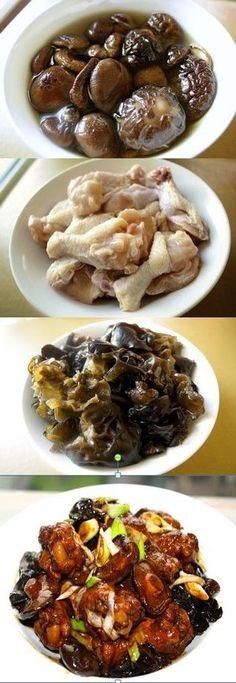 Chinese Braised Chicken with Mushrooms,