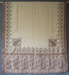 Paisley Shawl. Jacquard-Woven Wool with Fringed Borders. France. Circa 19th Century.