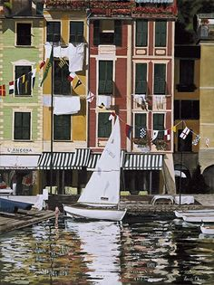 """Una Dolce Vita by laurie chase Oil ~ 20"""" x 16""""Medium: Oil  Size: 20"""" x 16""""  Price: $395.00 USD"""