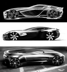 Aston Martin One 77 Official design sketches Car Design Sketch, Car Sketch, Supercars, Aston Martin Sports Car, Industrial Design Sketch, Automotive Design, Auto Design, Futuristic Cars, Car Drawings