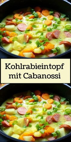 Kohlrabieintopf mit Cabanossi Avocado Fat, Recipe Organization, Group Meals, Calorie Diet, Fruits And Veggies, Eating Habits, Healthy Fats, Soups And Stews, Food And Drink