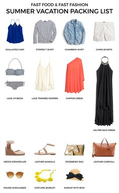 SUMMER VACATION PACKING LIST / CAPSULE WARDROBE