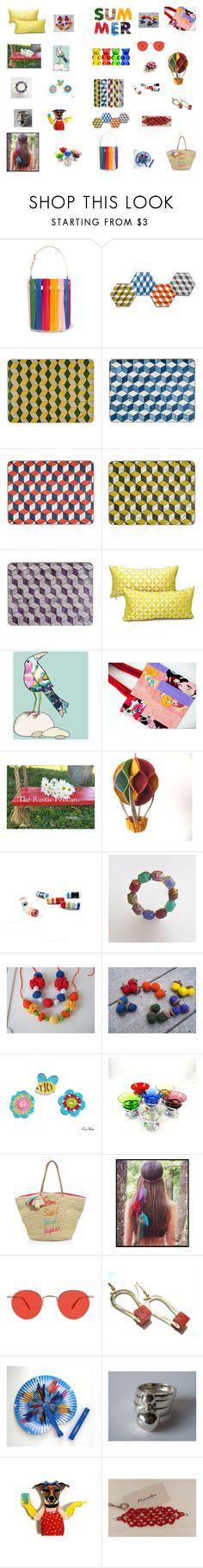 """Rainbow colours for summer"" by einder on Polyvore featuring interior, interiors, interior design, home, home decor, interior decorating, Sara Battaglia, SAM., Rebecca Minkoff and Garrett Leight"