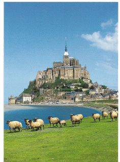 Mont Saint Michel, France  (by manchot6150 on Flickr) Have seen the sheep grazing  in the pre sale when driving to Mt St Michel.