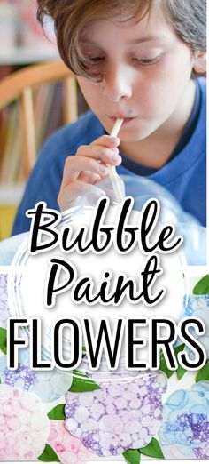 Kids will have so much fun making this bubble paint flower craft to give as a gift or to use as a cute decoration.