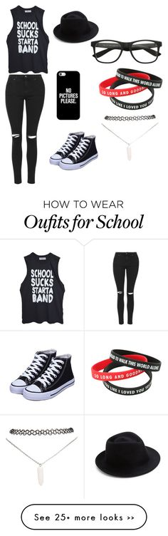 """School"" by fatimaisme on Polyvore featuring Topshop, Casetify, Eugenia Kim and Wet Seal"