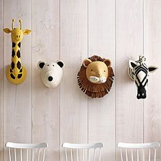 Deck out your little one's nursery with these animals.
