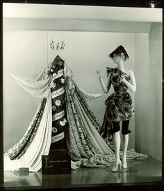 We step back in time with our Dress Fabric window displays. This is from 1954 find out what inspired our Visual Merchandisers back then, read the post on the #LibertyCraftBlog