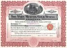 1909 Mary Murphy Gold Mining Stock Certificate - http://coins.goshoppins.com/stocks-bonds-scripophily/1909-mary-murphy-gold-mining-stock-certificate/