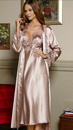 I'm straight man satin is my fetish Pyjama Satin, Satin Nightie, Silk Nightgown, Satin Sleepwear, Satin Lingerie, Satin Gown, Pretty Lingerie, Beautiful Lingerie, Satin Dresses
