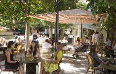 terrace spanish tapas restaurant La Terraza and bar outdoors seating london canary wharf