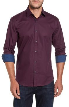 Bugatchi Men's Shaped Fit Sport Shirt Sports Shirts, Chambray, Men Casual, Nordstrom, Shirt Dress, Classic, Fitness, Mens Tops, Cotton