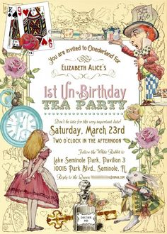 My Life as a Lawyer's Wife: Ellie's Alice-in-Wonderland 1st Birthday Party