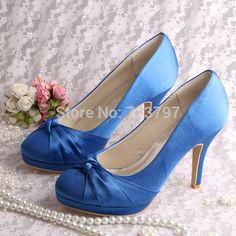 6ea3faaa 42.49 |Aliexpress.com: Comprar Wedopus Personalizada Hecha A Mano de Las Mujeres  Zapatos de Tacones Azules Del Partido de Tarde Bombas de Tacón Alto de ...