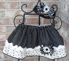 Black and white polka dot layered skirt with by Joysheartcreations Baby Girl Skirts, Baby Dresses, Girls Dresses, Layered Skirt, Amelia, Hair Bows, Lace Skirt, Layers, Polka Dots