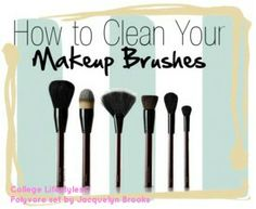 How to Clean Your Makeup Brushes /// #makeup #beauty #skincare