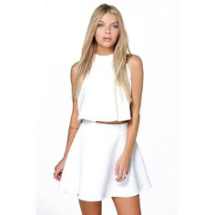 Boohoo Night Electra Deep Rib Full Skater Skirt ($16) ❤ liked on Polyvore featuring skirts, ivory, midi circle skirt, flared midi skirt, bohemian maxi skirt, a line skirt and maxi skirt