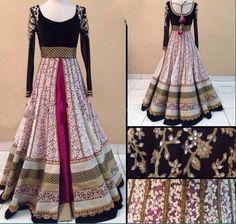 Designer Wear Multicolor Net And Velvet Gown