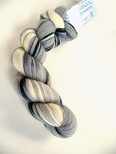Artyarns 1 Ply Lace Cashmere Knitting Yarn in color 117 Black and Whites
