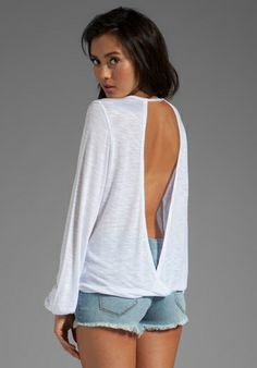 Blue Life Criss Cross My Heart Top in White