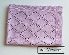 Do knit Yourself! Do it Yourself ! This baby blanket pattern Isabella will be a pleasure to knit and later to cover your baby or your friends baby during his/her naps with the blanket made by you and with love ! In pink, in white, grey or bleu - just choose your color, take your needles and enjoy ! ♥ This listing is an INSTANT DOWNLOAD pattern (PDF is a 2 pages download file with the written instructions). ♥ This pattern is written in standard US terms (in English) ♥ This blanket is...