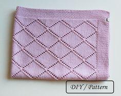 Knit baby blanket pattern / baby blanket por PetitMoutonFrancais