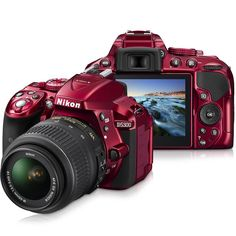 Câmera DSLR Nikon D5300 Sensor CMOS DX 24.2MP, LCD 3.2'' de Ângulo Variável, Vídeo Full HD – Vermelho