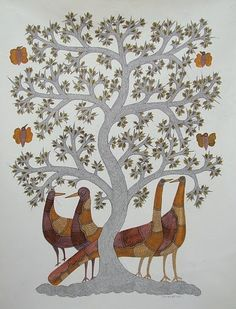 Birds and Tree, Gond