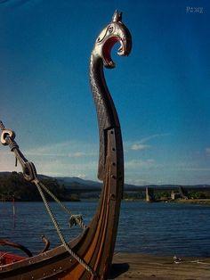 Viking Boat Drakkar In Spain
