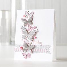 Card, Karte zur Geburt - Mädchen