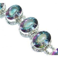 Luxury Magic Topaz .925 Sterling Silver handmade Bracelet