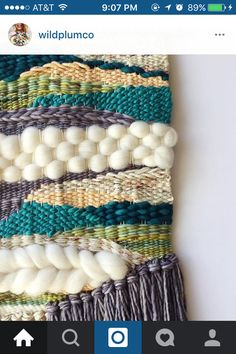 Custom piece I finished for Susan! The colors she wanted turned out beautifully all together! Made with an assortment of pretty yarns but… Weaving Loom Diy, Weaving Art, Tapestry Weaving, Hand Weaving, Peg Loom, Weaving Wall Hanging, Cute Diy Projects, Textile Fiber Art, Weaving Projects