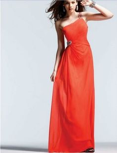 New Design One Shoulder Beaded Chiffon Evening Gown Long Prom Dresses