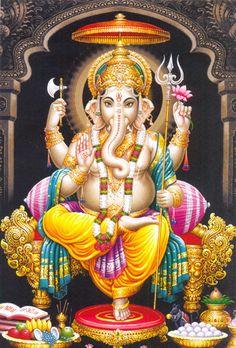 Hindu God Lord Shri Ganesha has several names. He is also known as Vinayaka, Ganapathi etc. Those who worship Bhagwan Sri Ganesha can overcome all difficulties. Ganesha Pictures, Ganesh Images, Jai Ganesh, Shree Ganesh, Jai Hanuman, Sutra, Ganesha Tattoo, Ganesha Art, Lord Ganesha Paintings