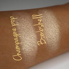 """Jaclyn Hill x Becca """"Champagne Pop"""" Shimmering Skin Perfector dupe > Looxi Beauty """"Bombshell"""" Highlighter. Highlighter Makeup, Drugstore Makeup, Skin Makeup, Makeup Art, Makeup Cosmetics, Beauty Makeup, Champagne Pop, Becca Champagne, Luminous Powder"""